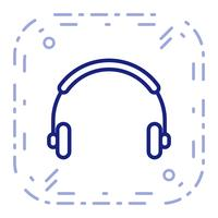 Vektor-Kopfhörer-Symbol