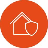 Skyddad husvektorikon