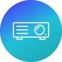 Projektor-Vektor-Symbol