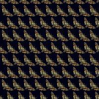 Nahtloses Muster der Schmetterlings-Todeshawk-Motte