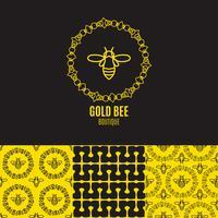 Insect badge Bee för företagsidentitet