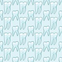 Vita tänder på blå bakgrund. vektor