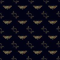 Butterfly Deaths huvudhökmoth sömlöst mönster