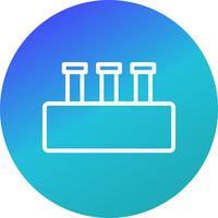 Vektor Chemie Set Symbol