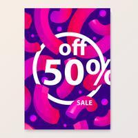 Helles Poster für Ihre Verkaufsrabatte und Werbeaktionen. 3d formen