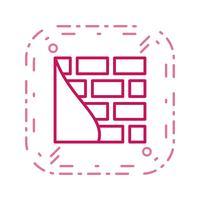 Tegelvägg vektor ikon