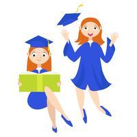 Graduate student med examen vektor