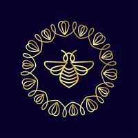 insekt. Badge Bee för företagsidentitet