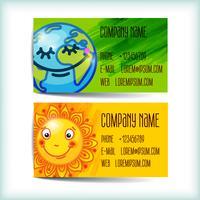 Legen Sie moderne Visitenkartenvorlage fest