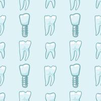 Weiße Zähne auf blauem Hintergrund. vektor