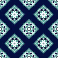 Portugisiska azulejoplattor. Blå och vita underbara sömlösa mönster. vektor