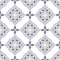 Portugiesische Azulejo-Fliesen. Blaue und weiße wunderschöne nahtlose Muster.