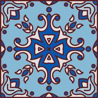Portugisiska azulejoplattor. Blå och vit underbar sömlös patte vektor