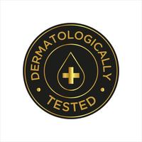 Dermatologisch getestetes Symbol vektor