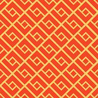 Abstraktes geometrisches nahtloses Muster. Chinesischer Hintergrund