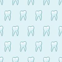 Vita tänder på blå bakgrund.