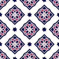 Portugisiska azulejoplattor. Sömlösa mönster. vektor