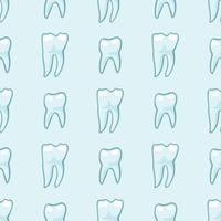 Weiße Zähne auf blauem Hintergrund.