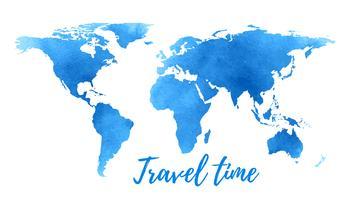 Weltkarte auf weißem Hintergrund.
