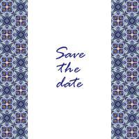 Banner Azulejos in portugiesischer Fliesenart für Unternehmen. vektor