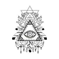 Allsehendes Augenpyramidsymbol.