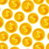 Nahtlose Beschaffenheit mit goldenen Münzen