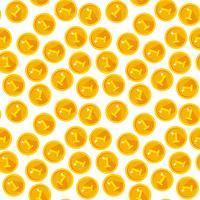 Nahtlose Beschaffenheit mit goldenen Münzen vektor