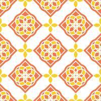 Portugisiska azulejoplattor. Röda och vita underbara sömlösa mönster. vektor