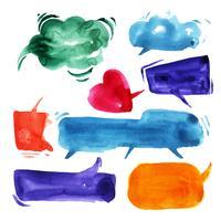Talande moln i akvarell.