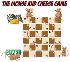Labyrinthspiel mit Maus und Käse vektor