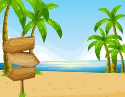 Scen med hav och strand