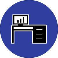 Bürotisch-Vektor-Symbol