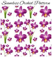 Nahtloser Hintergrund mit purpurroter Orchidee