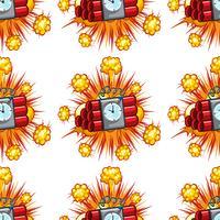 Nahtloses Hintergrunddesign mit Zeitbomben vektor
