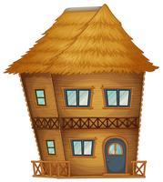 Två våningar hut gjord av bambu vektor