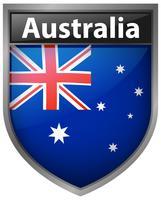 Australien Flagge auf Abzeichen Design vektor