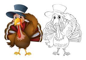 Tierentwurf für tragenden Hut der Türkei
