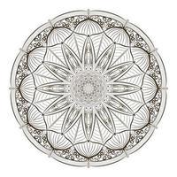 Mandala-Skizze-Zeichnung vektor