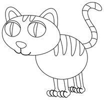 Djur skiss för kattunge vektor