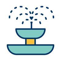 Brunnen-Vektor-Symbol vektor