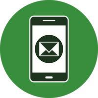 Meddelande mobilapplikationsvektonikon