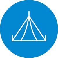 Zelt-Vektor-Symbol