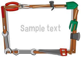 Rahmenvorlage mit verschiedenen Werkzeugen vektor