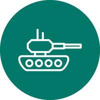Tank-Vektor-Symbol vektor