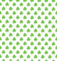 Klee Shamrok nahtlose Muster-Vektor-Illustration. glücklicher st. Patricks Tag vektor