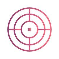 Ziel-Vektor-Symbol vektor