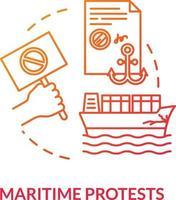 Symbol für das rote Konzept des maritimen Protests vektor