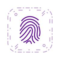 Fingerabdruck-Vektor-Symbol vektor