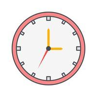Uhr-Vektor-Symbol vektor