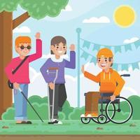 Internationaler Tag der Person mit Behinderung vektor